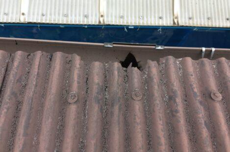 外壁塗装 春日井市 家の塗り替え 波トタンの屋根の塗り替え
